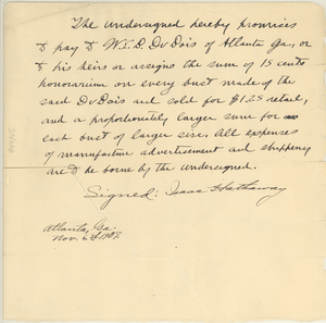 Promissory note from Isaac Hathaway