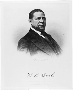 Photograph of First African-American Senator Hiram Revels