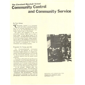 Thumbnail for Community control and community service
