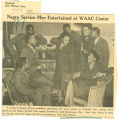 Negro service men entertained at WAAC center; Register (Des Moines, Iowa); Women's military activity