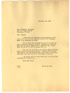 Letter from W. E. B. Du Bois to Yolande Du Bois Williams