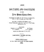 The doctrine and discipline of the African Methodist Episcopal church published by order of the General Conference held in Indianapolis, Ind., May 1888, by James C. Embry