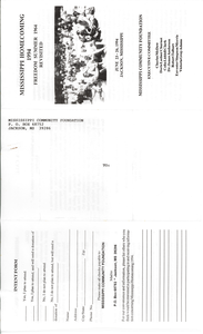Leaflet for the Mississippi Homecoming, 1994