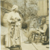 Old black couple in their yard in Vicksburg, Mississippi