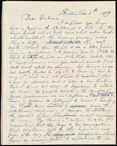 Letter from Maria Weston Chapman, Boston, [Mass.], to Deborah Weston, Dec. 6th, 1839