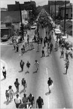 """Liberation Train"" protestors walking down Auburn Avenue, Atlanta, Georgia, May 23, 1970"