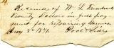 Receipt, 1871