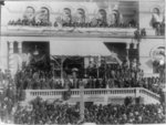 Public reception to President and Mrs. Cleveland at Custom House, Kansas City, Mo., October 13th, 1887