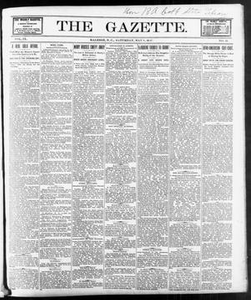 The Gazette. (Raleigh, N.C.), Vol. 9, No. 12, Ed. 1 Saturday, May 8, 1897 The Gazette The Weekly Gazette