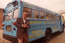 Lowery with motor voter bus