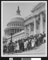 Large group of African American women on steps of Capitol Building, Washington, D. C., ca. 1951-1960