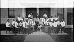 [Group of young men and women with musical instruments, ca. 1930 : cellulose acetate photonegative, banquet camera format]