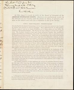 Letter from William Coppinger, Washington, D.C., to John Jacobus Flournoy, Feburary 24, 1868