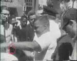 WALB newsfilm clip of police chief Laurie Pritchett arresting ministers from New York and Chicago participating in a kneel-in in front of city hall in Albany, Georgia, 1962 August 28