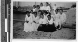 Sisters Rose of Lima and Gabrielle, MM, picnicing with BVM Sodality, Shingishu, Korea, ca. 1934