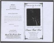 Celebrating of the life, love and legacy of Deacon Frank Burt, sunrise, May 17, 1917, sunset, November 27, 2012, Mt. Calvary Baptist Church 11:00 a.m., Johnston South Carolina 29832, Saturday, December 1, 2012, Reverend Lewis Burt, pastor, Reverend George Key, presiding
