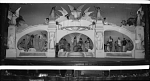 [Stage with large set of columns and arches with actors in posed scenes : cellulose acetate photonegative, banquet camera format]