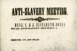 Anti-slavery meeting : Benj. S. & J. Elizabeth Jones will hold anti-slavery meetings at ... : Friends, go and hear!