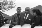Andrew Young, Martin Luther King, Sr., and Alberta Williams King at South View Cemetery during Martin Luther King, Jr.'s funeral.
