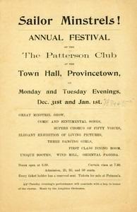 """The Sailor Minstrels"" (January 1, 1895)"