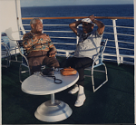 [Dizzy Gillespie and Benny Carter aboard SS Norway: color photoprint,] 1988