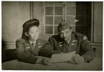 Lead vocalist Anna Mae Winburn and musical Director Maurice King led the Sweethearts on their USO tour. [black-and-white photoprint]