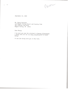 Letter from unnamed correspondent to Marty Newcomber