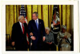President George W. Bush and Benjamin Hooks