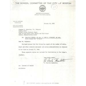 Letter, Tallulauh Morgan et als v. John O'Bryant et als. Civil Action No. 72 - 911- G