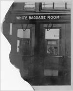 White baggage room in railroad station, Jackson, Mississippi