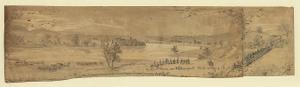 On the Potomac nr. Williamsport. Rebel crossing ; Rebel Pontoons at Falling Waters