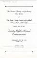 Commencement Program Front (1949)