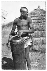 Man playing a drum