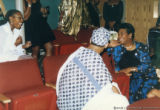 Maya Angelou sitting in an auditorium (1 of 3)