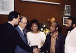 James Hahn Shakes Hands with James Baldwin