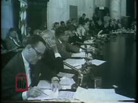 WSB-TV newsfilm clip of Mississippi governor Ross Barnett testifying before a Congressional committee against proposed civil rights legislation, Washington, D.C., 1963 July 12