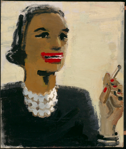 Woman with Red Mouth