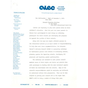 Newsnote, November 4, 1976