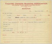 Agreement between the Theatre Owners Booking Association and Ben Stein, 1928 Mar. 9