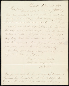 Letter from Edward Morris Davis, Philad[elphia], [Penn.], to Maria Weston Chapman, 12th mo[nth] 22 [day] 1845