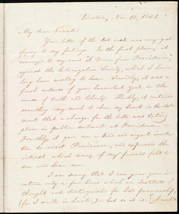 Letter from William Lloyd Garrison, Boston, [Mass.], to Henry Egbert Benson, Nov. 12, 1831