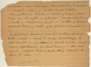 Notes regarding meeting of persons interested in the Negroes of New York [fragment]