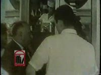 WSB-TV newsfilm clip of African American students protest segregation outside of an anniversary open house at Leb's Restaurant in Atlanta, Georgia, 1962 July 18