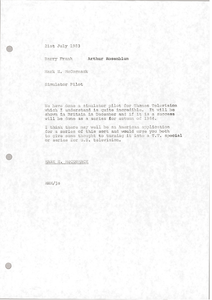 Memorandum from Mark H. McCormack to Barry Frank and Arthur Rosenblum