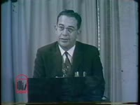 WSB-TV newsfilm clip of Governor Ernest Vandiver commenting on the actions of Attorney General Robert Kennedy in the Prince Edward County school case, Atlanta, Georgia, 1961 May 9
