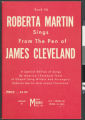 Roberta Martin Sings From the Pen of James Cleveland, Vol. #6, 1961
