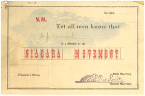 Thumbnail for Niagara Movement certificate of membership