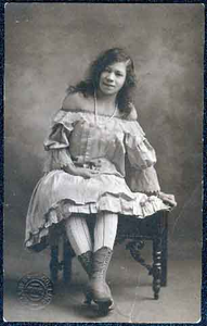 Portrait of unidentified African-American woman in costume, St. Paul.