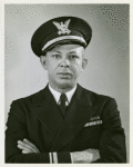Photograph of Lieutenant Clarence Samuels of the United States Coast Guard, the highest ranking African American officer in the Navy