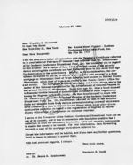 Letter: to Mrs. Franklin D. Roosevelt, New York, New York, 1961 February 27